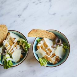 Bowl food chicken caesar