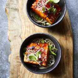 Salmon bowl food